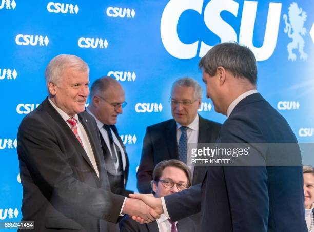 Bavarian Prime Minister Horst Seehofer also chairman of the conservative Christian Social Union party the Bavarian sister party of Chancellor...
