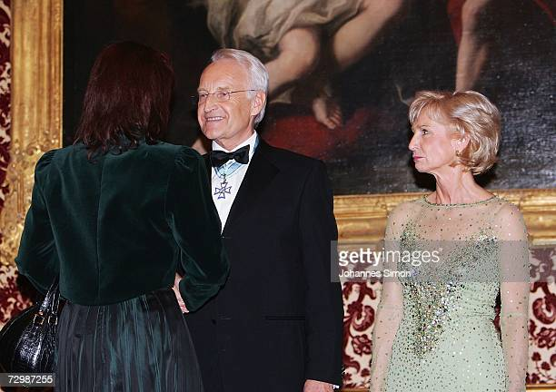 Bavarian State governor Edmund Stoiber and his wife Karin welcome critic Gabriele Pauli district administrator of the Bavarian administrative...