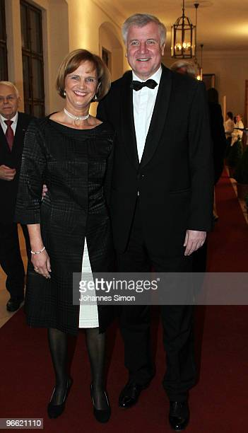Bavarian State governor Horst Seehofer and his wife Karin arrive for the Hubert Burda Birthday Reception at Munich royal palace on February 12 2010...