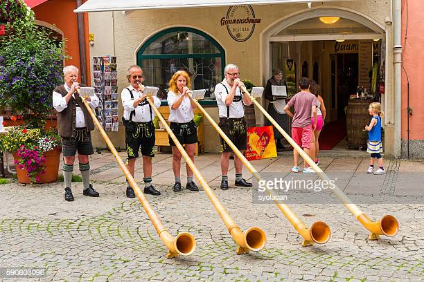 bavarian street musicians - syolacan stock pictures, royalty-free photos & images