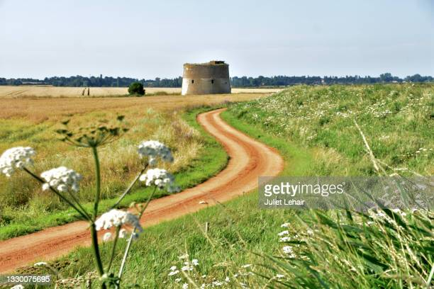 bawdsey martello tower. - military invasion stock pictures, royalty-free photos & images