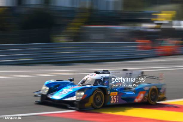 Baxi DC Racing Alpine A460 - Nissan LMP2 race car driven by D. CHENG / H. TUNG / N. PANCIATICI in Eau Rouge during the 6 Hours of Spa-Francorchamps...