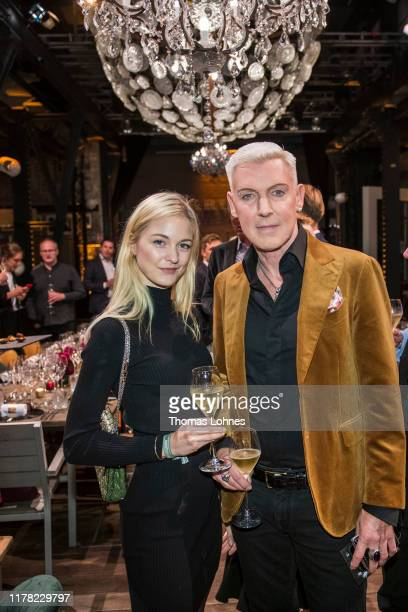 Baxter and Lysann Geller attend the Krug Encounters Event on September 30 2019 in Hamburg Germany