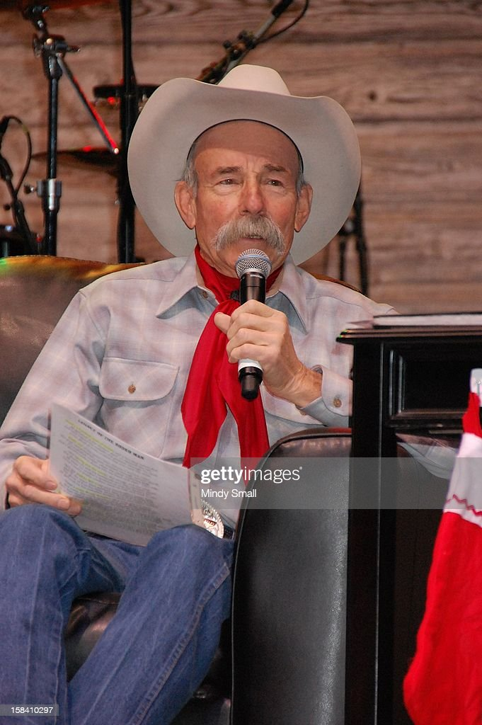 Baxter Black appears at Cowboy FanFest during the Wrangler National Finals Rodeo at the Las Vegas Convention Center on December 15, 2012 in Las Vegas, Nevada.