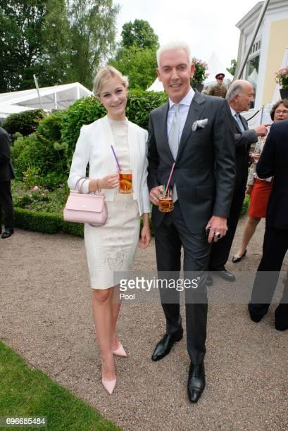 Baxter HP and Baxter HP and friend Lysann GellerFreundin Lysann Geller attend a birthday party for Queen Elizabeth II June 15 2017 in Hamburg Germany