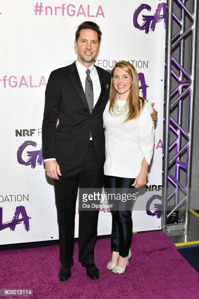 Baxter Underwood and honoree Brittany Merrill Underwood attend the 2018 National Retail Federation Gala at Pier 60 on January 14 2018 in New York City
