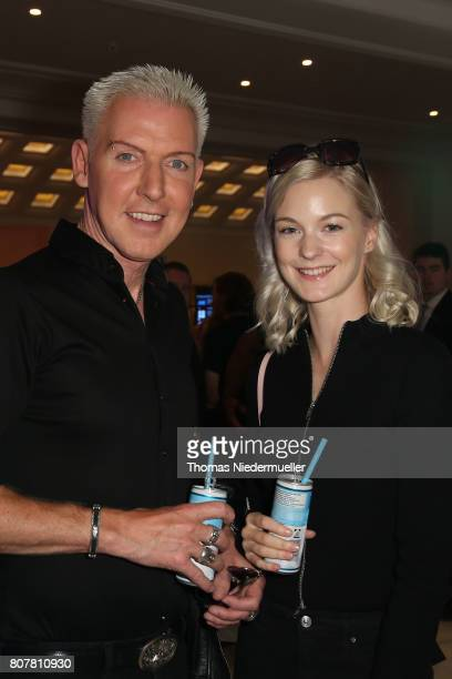 P Baxxter and Lysann Geller attend the Anja Gockel show during the MercedesBenz Fashion Week Berlin Spring/Summer 2018 at Hotel Adlon on July 4 2017...