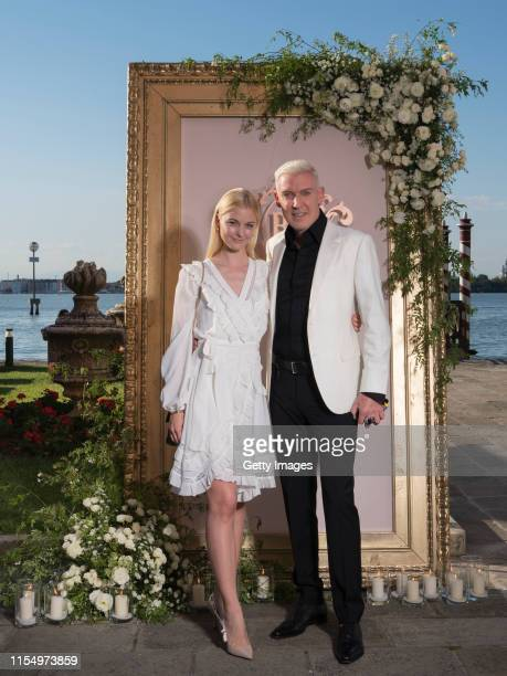 P Baxxter and Lysann Geller pose for a picture during the wedding celebration of Barbara Meier and Klemens Hallmann on June 01 2019 in Venice Italy