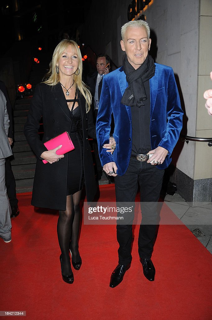 H.P. Baxxter and Nikola Jancso attend the 'Musik Hilft' Charity Dinner at the Grill Royal on March 20, 2013 in Berlin, Germany.