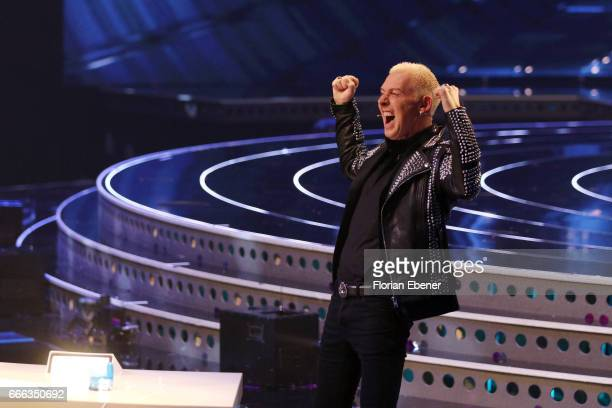 P Baxxter during the first event show of the tv competition 'Deutschland sucht den Superstar' at Coloneum on April 8 2017 in Cologne Germany 13...