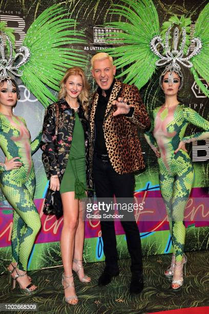 "Baxxter, Hans Peter Geerdes, singer of Scooter and his girlfriend Lysann Geller during the Place To B Berlinale Party ""Garden of Eden"" at Borchardt..."