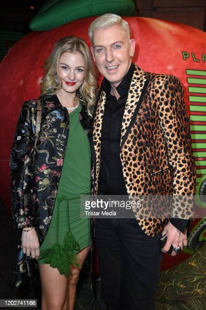 Baxxter of the band Scooter) and his girlfriend Lysann Geller attend Place To B Berlinale Party during the 70th Berlinale International Film Festival...