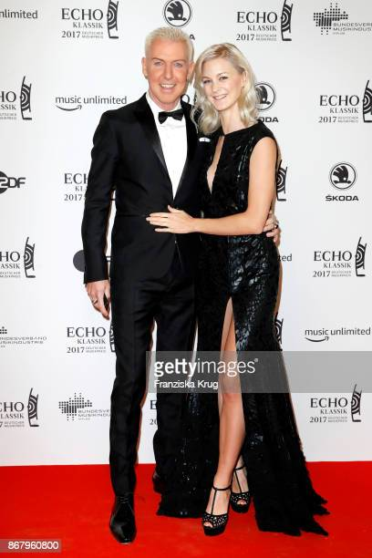 P Baxxter singer of the band 'Scooter' and his girlfriend Lysann Geller attend the ECHO Klassik 2017 at Elbphilharmonie on October 29 2017 in Hamburg...