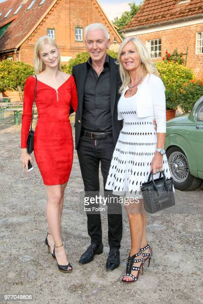 P Baxxter with his girlfriend Lysann Gellner and Marion Vedder during the BMW Polo Cup Gut Basthorst on June 15 2018 in Basthorst Germany