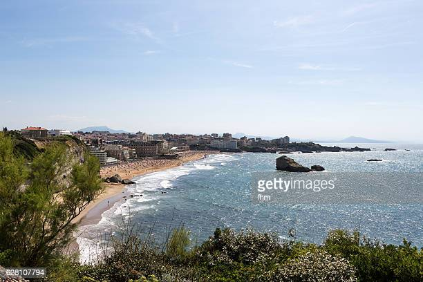 Bay and beach of Biarritz near the Atlantic ocean (Aquitaine-France)