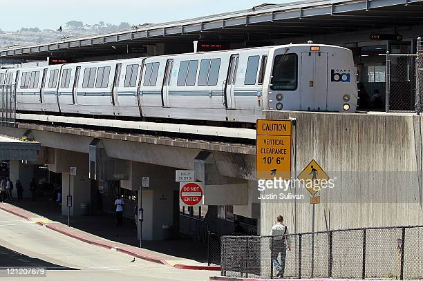 Bay Area Rapid Transit train arrives at the Daly City station on August 15 2011 in Daly City California The hacker group 'Anonymous' is planning a...