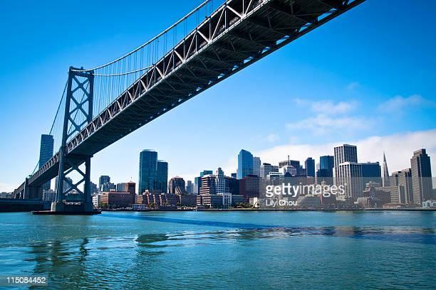Bay bridge and embarcadero