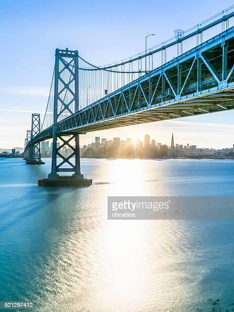 Bay Bridge and skyline of San Francisco