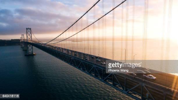 bay bridge morning - bay bridge stock pictures, royalty-free photos & images
