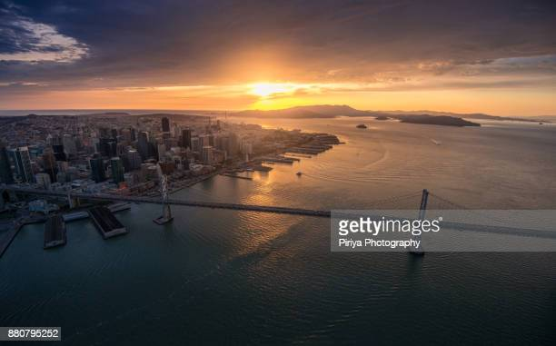 bay bridge - san francisco financial district stock pictures, royalty-free photos & images