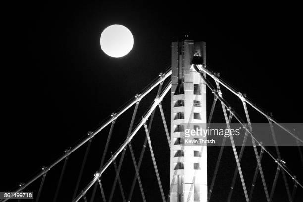 Bay Bridge Tower & Full Moon