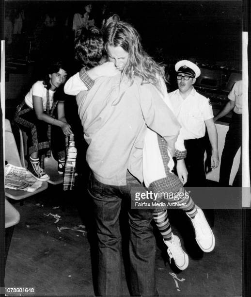 Bay City Roller concert at the Hordern Pavilion....Fans being carried out after fainting, fans crying etc. December 01, 1976.