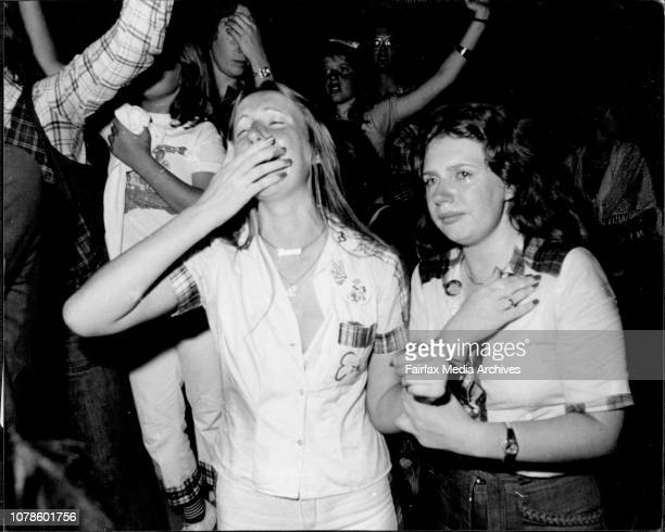 Bay City Roller concert at the Hordern Pavilion...Fans being carried out after fainting, fans crying etc. December 01, 1976.