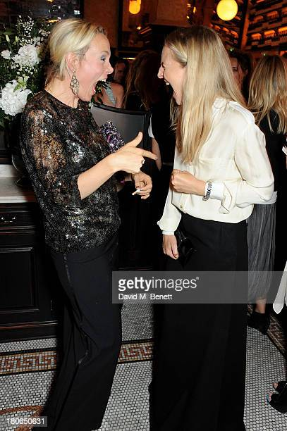 Bay Garnett and Alannah Weston attend a private dinner hosted by British Vogue celebrating London Fashion Week SS14 at Balthazar on September 15 2013...