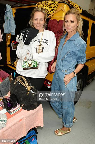 Bay Garnett and Laura Bailey attend the #SheInspiresMe Car Boot Sale presented by The Store and Brewer Street Car Park in aid of Women for Women...
