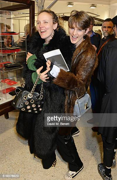 Bay Garnett and Stella Tennant attend an exclusive VIP preview of the Dover Street Market on March 18 2016 in London England