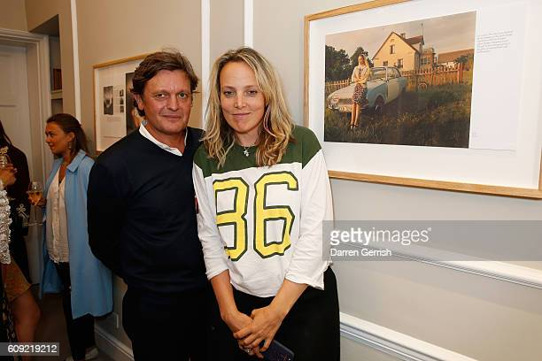 Bay Garnett and Tom Chapman attend Vogue Voice of a Century book launch at Matches Fashion on September 20, 2016 in London, England.