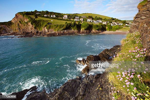 bay in combe martin - ilfracombe stock photos and pictures