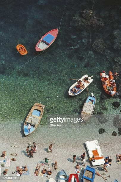 A bay in Conca dei Marini on the Amalfi coast in Italy August 1984