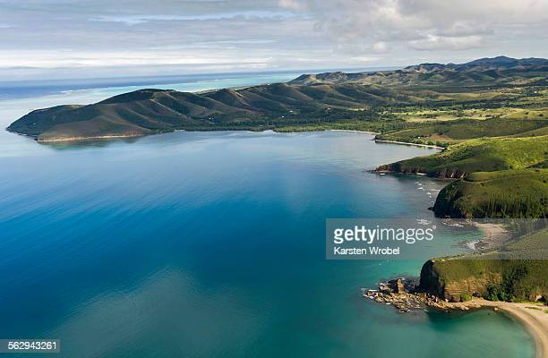 bay la baie des tortues, bourail, grande terre, new caledonia - new caledonia stock photos and pictures