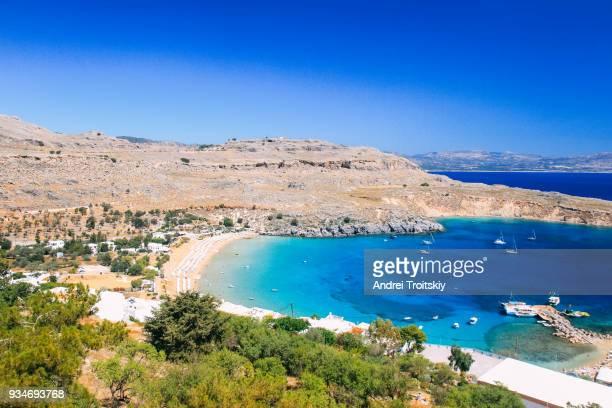 Bay near Lindos town, Rhodes, Greece