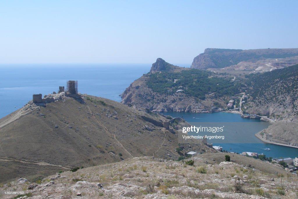Bay of Balaklava in Crimea : Stock Photo