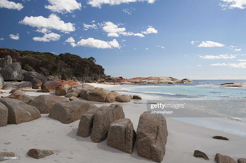 Bay of Fires in Tasmania : Stock Photo