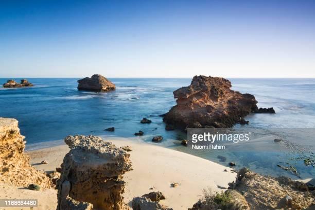 bay of islands - sorrento back beach, mornington peninsula, australia - bass strait stock pictures, royalty-free photos & images