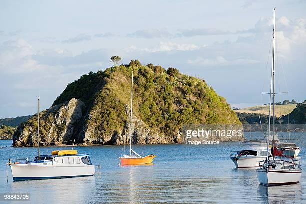 Bay of Islands, yachts in the bays near Kerikeri