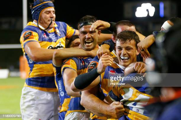 Bay of Plenty celebrate on full time following the Mitre 10 Cup Championship Final between Bay of Plenty and Hawke's Bay at Rotorua International...