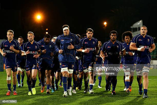 Bay of Plenty players head to the dressing room after warming up during the ITM Cup match between Manawatu and Bay of Plenty at FMG Stadium on...
