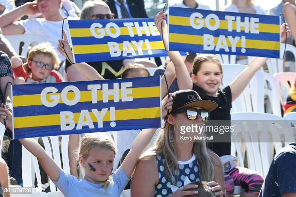 Bay of Plenty supporters during the round nine Mitre 10 Cup match between Bay of Plenty and Waikato at Tauranga Domain on October 14 2017 in Tauranga...