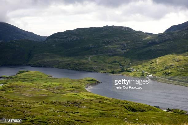 bay of south harris, scotland - hebriden inselgruppe stock-fotos und bilder