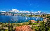 Bucht von Spiaggia Val Di Sogno in Malcesine (Gardasee)