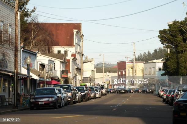 Bay Street in Old Town Florence, Oregon