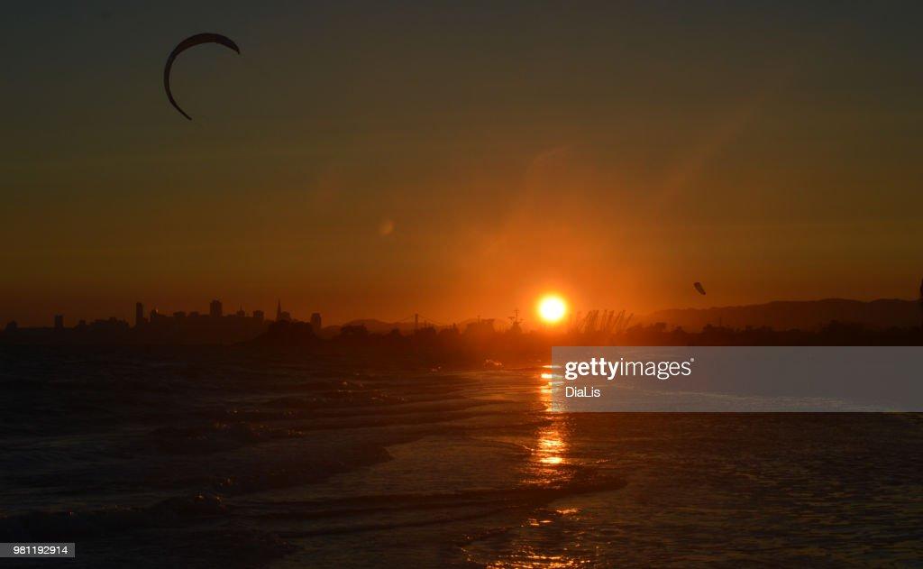 Bay Sunset : Stock Photo