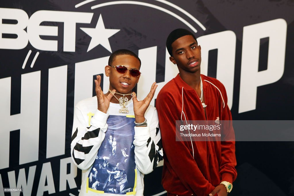 Bay Swag and Christian Combs attend BET Hip Hop Awards 2017 on October 6, 2017 in Miami Beach, Florida.