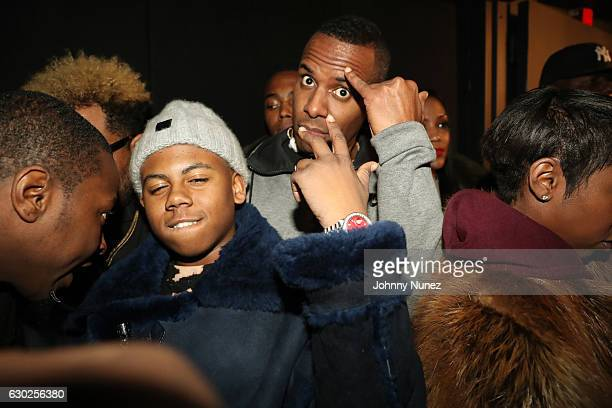 Bay Swag and DJ Whoo Kid attend Terminal 5 on December 18 2016 in New York City