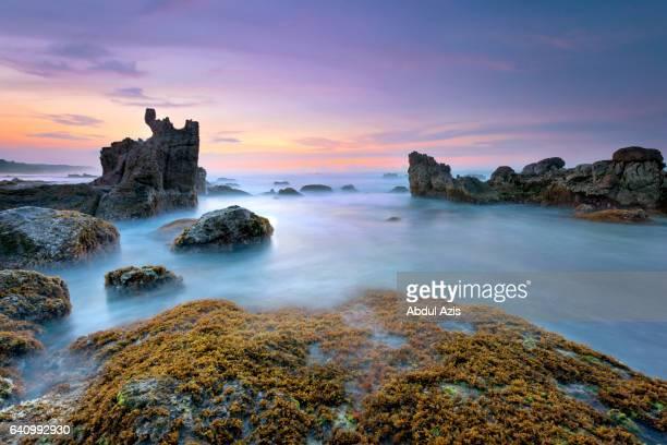 bayah sawarna beach sunrise - indonesia