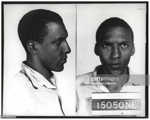 Bayard Rustin one of the organizers of the 1963 March on Washington shown here on an 'intake' mugshot August 3 at Pennsylvania's Lewisburg...